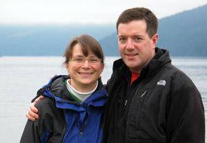 Rhonda and Blake Johnson, owners